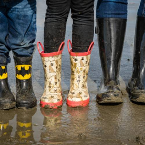 Rain Boots Beach Seabrook Washington