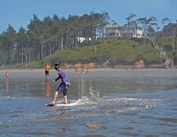 Skimboarding Washington Coast Seabrook