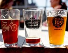 Beer glasses at Bigfoot Brewfest in Seabrook