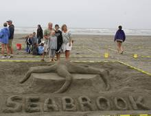 Winners of the Seabrook Sand Castle competition