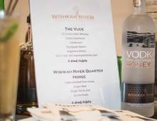 Wishkah River Distillary menu at Seabrook event