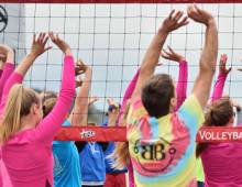 Beach volleyball clinic at Seabrook taught by Men's Olympic coach Jeff Alzina