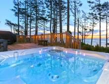 Beautiful hot tub at one of Seabrook's vacation rentals