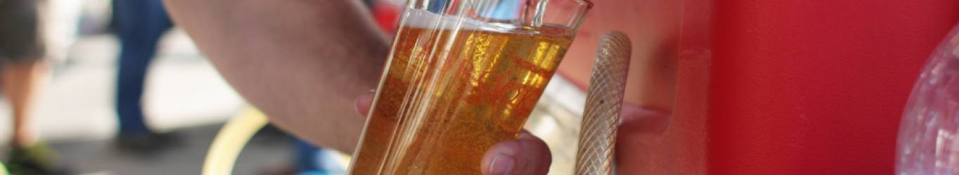 Seattle Cider pours at Seabrook's Big Foot Brew Fest