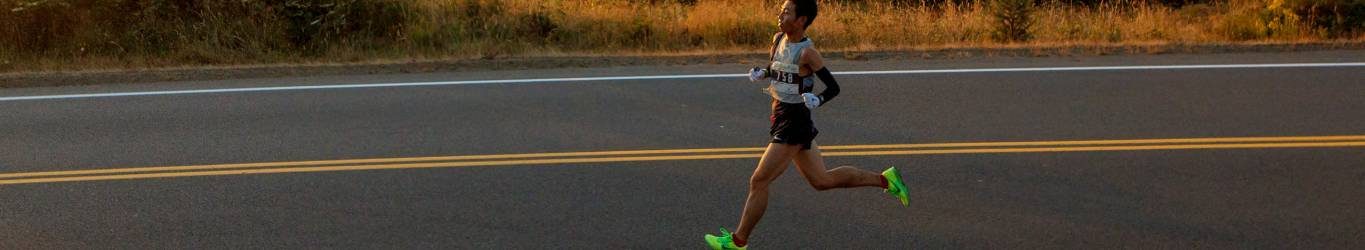 Hood to Coast runner making his way to Seabrook