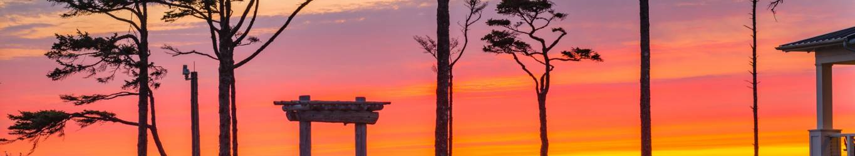 Seabrook Sunset Gazebo Washington Coast Bg