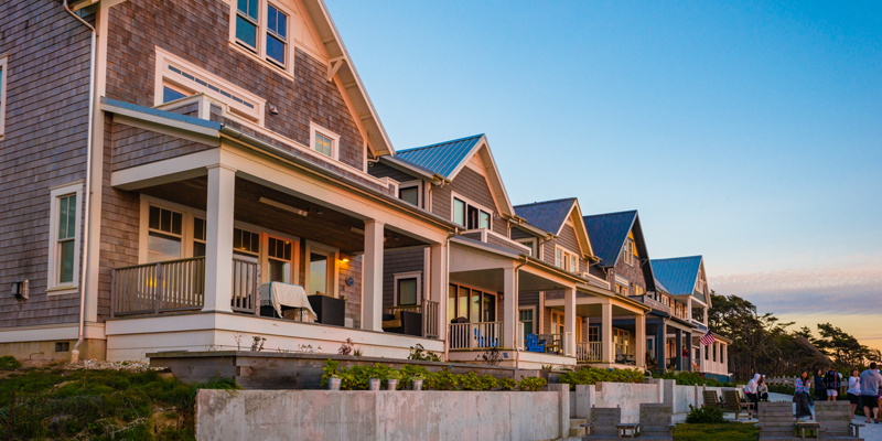 Beach front homes at Seabrook