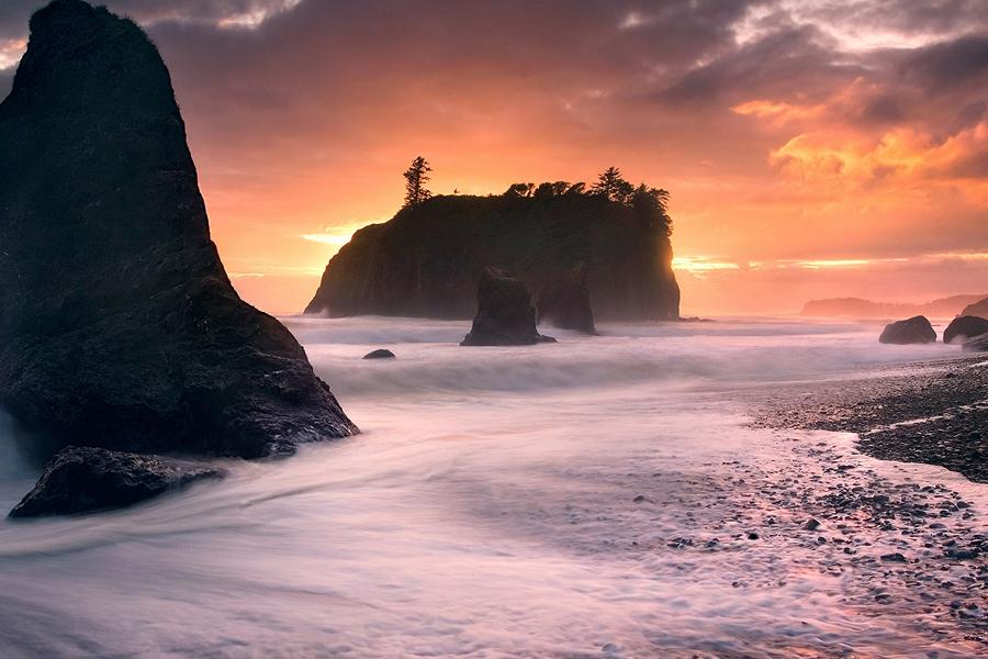 Ruby Beach along the Washington Coast